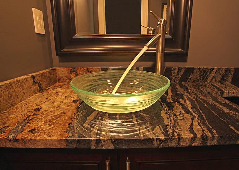 Bathroom-Vanity-granite-top-with-vessel-sink - LDK Countertops - LDK  Countertops