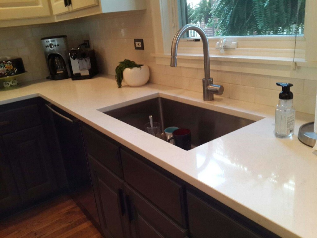 Beige Caesarstone Countertops   Halsted Ave In Chicago   LDK Countertops