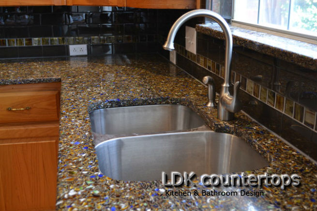 Recycled Glass Countertops Chicago Chicago Recycled Glass